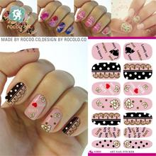 New Arrive Cute Nail Sticker Hello Kitty Design Manicure Decals Minx Nails Decoration Tools Water Transfer Nail Art Sticker