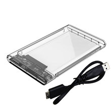 Etmakit Brand 2.5 inch Transparent USB3.0 to Sata 3.0 HDD Case Tool Free 5 Gbps Support 2TB UASP Protocol Hard Drive Enclosure(China)