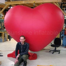 Custom made wedding valentine decoration item large inflatable red heart sale