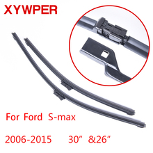 "XYWPER Wiper Blades for Ford S-max 2006 2007 2008 2009 2010 2011-2015 30""&26"" Car Accessories Soft Rubber car windscreen wipers(China)"