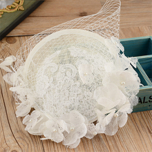 Sinamay Disc Lace Fascinator Clip Hat With Silk Flowers Bridal Headpiece Wedding Hats And Fascinators Hair Accessories WIGO0797