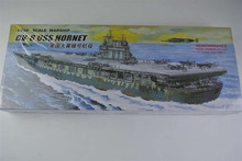 30CM Warship World War II CV-8 USS HORNET Aircraft Carrier Plastic Assembly Model Electric Toy XC80901