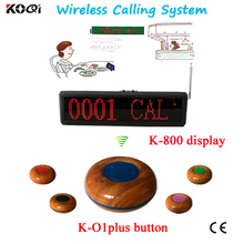 Restaurant Wireless Service Calling System Waiter Buzzer Call System Wireless Service Waiter Remote Call Bell System(China)