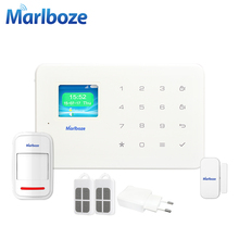 Wireless IOS Android App Control TFT Color Screen Touch Keyboard Wireless Home Security GSM Alarm System Voice Prompt Alarm