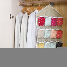 2016 New Up 16 Pockets Clear Over Door Hanging Bag Shoe Rack Hanger Storage Organizer Gray Wholesale(China)