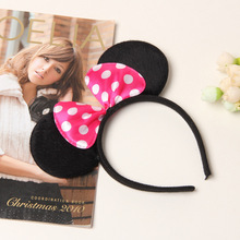 2017 New kids Mickey headband Cute Elsa Mouse Ear Hair Band Small minnie Mouse Headbands for Women Hello Kitty Hair Accessories