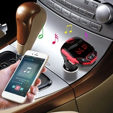 mosunx Wireless Bluetooth LCD FM Transmitter Modulator USB Car Kit MP3 Player SD Remote Android Phone Smartphone Cellphone Phoes(China)
