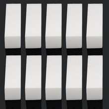 UK 10 x Pro Acrylic Nail Art Tips Buffer Buffing Sanding Block Files White Nail