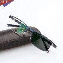 Transition Sunglasses Photochromic Progressive Reading Glasses Men Multifocal Points for Reader Near Far sight diopter