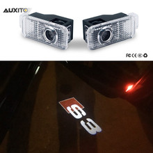 2x For Audi A3 A4 B6 B8 B7 A6 C6 C5 A7 A8 A5 Q3 Q7 Q5 80 TT S line RS S3 LED Car Door Logo Light Ghost Shadow Projector Lamp