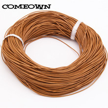 COMEOWN 10M 1mm Genuine Real Round Leather Cord/String Natural Brown Making/Design Jewelry Necklaces Pendant Bracelet Cords