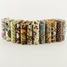 Royal brown theme 12pcs/lot  7cmx100cm 100%cotton quilting  jelly roll fabric strips patchwork crafts for DIY  doll's cloths