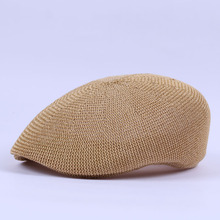 Father Gift Male Summer Headwear Adult Hollow Out Berets Cool Peaked Cap Men Ivy Hats(China)