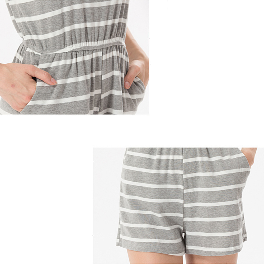 Siskakia mody młodzieżowej Letnie nastolatek dziewczyny Playsuit Przebrania paski patchwork slim fit krótkie elegancki 100% bawełna odzież różowy 23