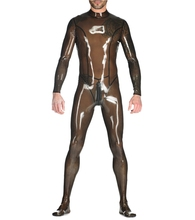 Buy Semitransparent Latex Bodysuit Enclosed Latex Rubber Catsuit Back Zip Crotch Men's Latex Clothes