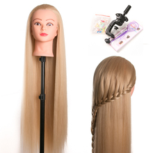 80cm hairdressing dolls head very long yaki hair Female Mannequin Hairdressing Styling Professional Training Head Mannequin Head(China)