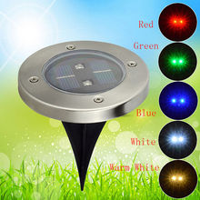 Waterproof LED Solar Powered Buried Light solar landscape Lighting Underground Light lamp Solar lamp Outdoor  Garden decoration