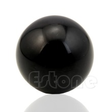 U119 Hot Sale 50mm Black Bian Stone Hand Ball Natural Massaging Smooth Healing Crystal Sphere(China)