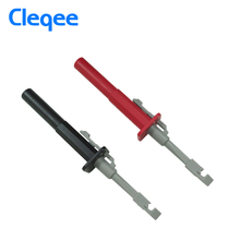 Cleqee P5006 2Pcs Insulation Piercing Test Clip Set Alligator Probes For Car Circuit Detection(China)