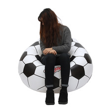 Factory direct sales inflatable football sofa environmental pvc loungers outdoor inflatable seat sofa
