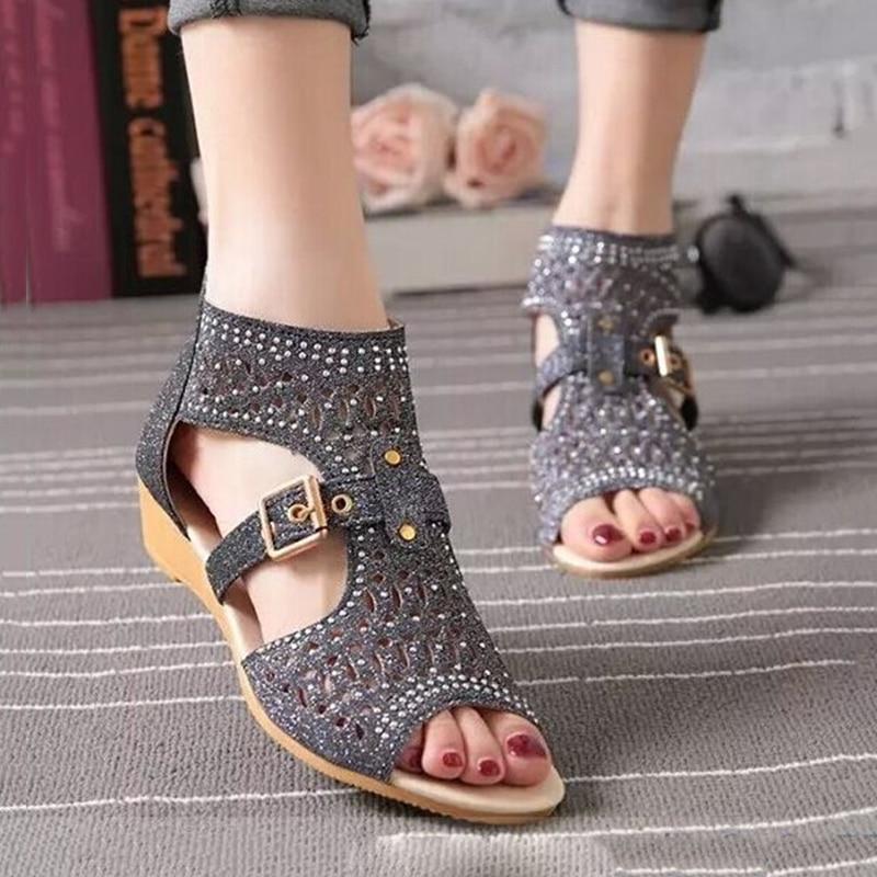 Women Sandals Bohemian Beach Shoes Women Wedge Sandals Ladies Summer Sandals <br><br>Aliexpress