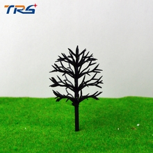 4cm-12cm model making architecture each size ho, n ,g scale model train layout miniature plastic model tree arm(China)