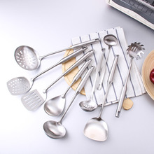 CHANOVEL 1 Pcs Stainless Steel Cookware Cooking Tool Sanding Polishing Soup Ladle Utensils Set Kitchen Accessories(China)