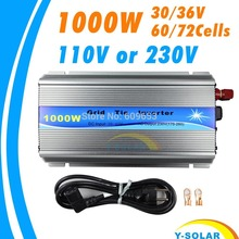 1000W 30V/36V Grid Tie Inverter MPPT function Pure Sine wave 110V OR 230V output 60 72 CELLS panel input on grid tie inverter(China)
