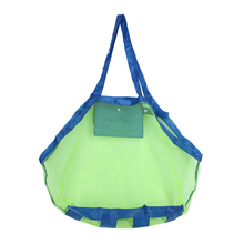 Creative Folding Baby Child Beach Mesh Bag Child Bath Toy Storage Bag Net Suction Cup Baskets for Outdoor Hanging Big Volume