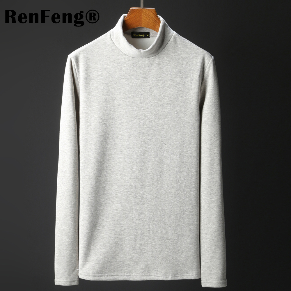 Men\`s Tops Tees 2018 summer new cotton high neck Long sleeve t shirt men fashion trends fitness tshirt Under shirt free shipping (6)
