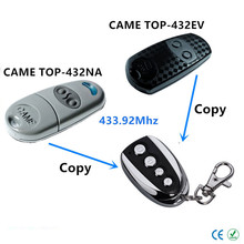 433.92 Mhz Duplicator Copy CAME remote control TOP 432EV TOP-432NA TOP432NA With Battery For Universal Garage Door Gate Key Fob