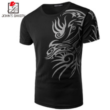 T Shirt Men 2017 Brand Short Sleeve Hip Hop Male T-Shirts Mens Dragon Printing Casual Mens Funny Tshirt Slim Tee Tops Pokemo 3XL