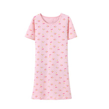 Buy Little Girls Nightgowns Pajamas Kids Girls Summer 2018 New Short Sleeve Elegant Princess Sleepwears Children Clothes 3ps020 for $10.66 in AliExpress store