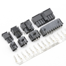 50Set 5557 Connector 3.0mm 2/4/6/8/10/12/14/16/18/20/22/24P Right Angle Black PCB Wire Soldered ( Pin Header+Housing+Terminals )