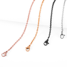 IJC0023 10pcs WHOLESALE Cheap 2.3mm Stainless Steel Cable Chain Necklace (Silver/Gold/Rose Gold/Black )