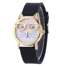 Lovely Silicone Women's Quartz Wristwatches Children's Watches Fashion Candy Color Black Sports Watches relogio feminino Gifts