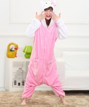 Hello Kitty unisex adults flannel animal Pajamas cosplay Pijama Onesies Pyjamas women Sets sleep Robe