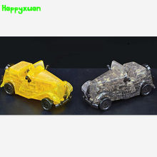 Happyxuan Classic Car Plastic DIY 3D Jigsaw Crystal Puzzle  Educational Toys Or Home Decoration Birthday Gif Toys For Children