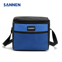 SANNEN 5L Cooler Bags Kids Insulated Lunch Box Portable Oxford Thermal Food Picnic Tote Men Shoulder Bag Storage bolsa almuerzo