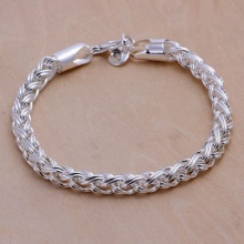 Creative twist circle chain women men silver plated  bracelets new listings high -quality fashion jewelry Christmas gifts