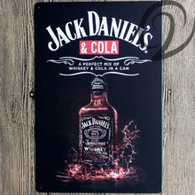 Jack Daniel's &Cola Tin Signs Shabby Chic Wall Art Sign Home Bar Pub Cafe Restaurant Decor Vintage Tin Plate Metal Signs
