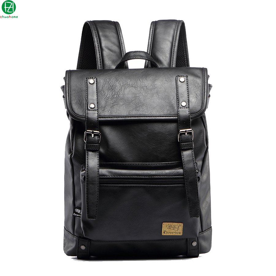 man backpacks leather vintage man baag casual men shoulder bag men travel bag mochila school Laptop bag Hot Sale backpacks<br>