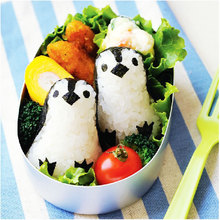 Hot Sale Kid DIY Sandwich Rice Penguin Shape Roll Cookies Sushi  Bento Biscuit Cutter Mold Mould #55214