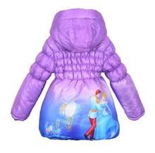 New Children Coat Cinderella Baby Girls winter Coats full sleeve coat girl's warm Baby jacket Winter Outerwear Thick Hooded