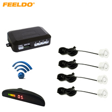 Silver Car LED 4 Wireless Parking Sensor Backup Radar #FD-882(China)