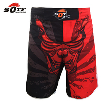 SOTF SURVIVAL OF THE FITTEST head domineering breathable cotton boxer shorts mma sports training Tiger Muay Thai muay thai short