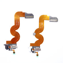 Home Menu Button 3.5mm Audio Jack Headphone Charger Dock USB Charging Port Connector Flex Cable for iPod Touch 5(China)