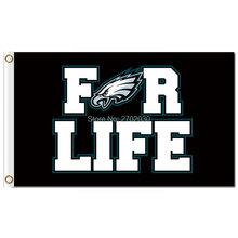 FOR LIFE Flag Philadelphia Eagles Banner Black World Series Football Team 3ft X 5ft Custom Banners Philadelphia Eagles Flags(China)