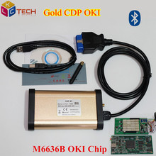 DHL Free 10 PCS/Lot Newly Gold TCS CDP PRO Bluetooth With OKI Chip M6636B Auto OBD2 Diagnotic CDP OKI For Cars/Trucks/Generic