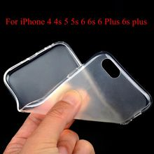 Soft Sillicon Cover For iPhone4 4S 5 5S 6 6S 6 Plus 6s plus Clear Cases Super Slim TPU Gel Phone Case Ultra Thin Transparent